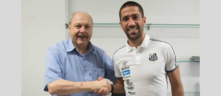 Evandro é contratado pelo Santos para a próxima temporada