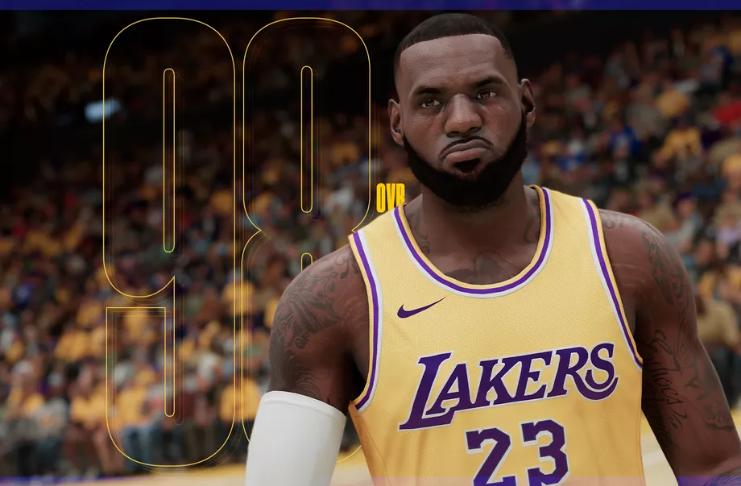 LeBron James é o jogador com maior pontuação na NBA 2K21, Anthony Davis não está muito atrás